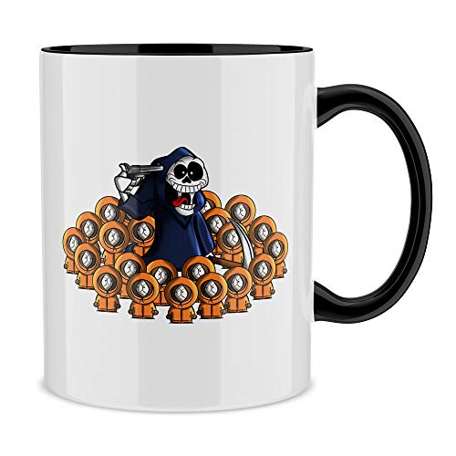 OKIWOKI South Park Lustiges Schwarz Tasse - Kenny (South Park Parodie) (Ref:662)