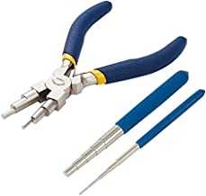 BENECREAT Wire Looping Tool, 2Pcs Wire Looping Mandrel and 1Pc 6 in 1 Bail Making Plier for Jewelry Wire Wrapping and Jump Ring Forming