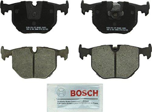 Price comparison product image Bosch BC683 QuietCast Premium Ceramic Disc Brake Pad Set For Select BMW 330Ci,  330i,  330xi,  525i,  525xi,  740i,  740iL,  750iL,  M3,  M5,  X3,  X5,  Z4,  Z8; Land Rover Range Rover; Rear