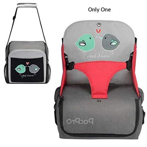 TMY chaises hautes Chaise de Salle à Manger pour bébé Multifonction Pratique pour Sortir Le Sac Augmentation du Coussin Peut Se Replier dans Une boîte de Rangement portative (Color : Red)