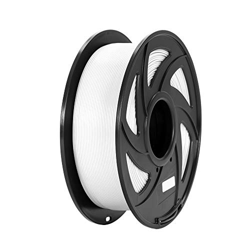 PLA 3D Printing Filament 1.75 mm, PLA 3D Printer Filament, 2.2 LBS (1KG) Dimensional Accuracy +/- 0.02 mm (White PLA)