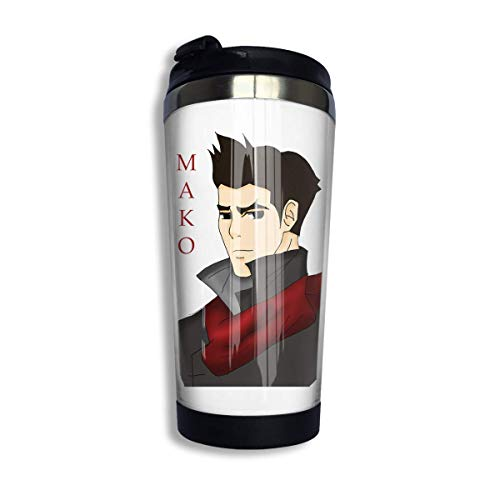 Qurbet Kaffeebecher Thermobecher mit Schraubdeckel, Mako The Legend of Ko-rra Coffee Cups Stainless Steel Water Bottle Cup Travel Mug Coffee Tumbler with Spill Proof Lid