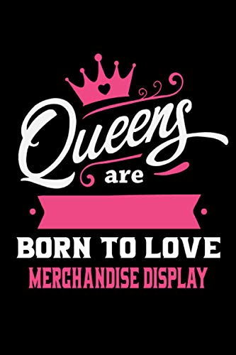 Queens Are Born To Love Merchandise display: Notebook Lined Pages, 6.9 inches,120 Pages, White Paper Journal, notepad Gift