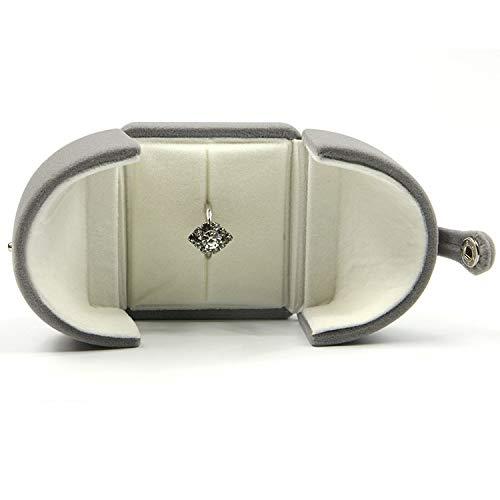Unbekannt Hellgrau Kreative Schmuckschatulle Snap Doppel Offenen Kasten Ring Box 65 * 65 * 50Mm