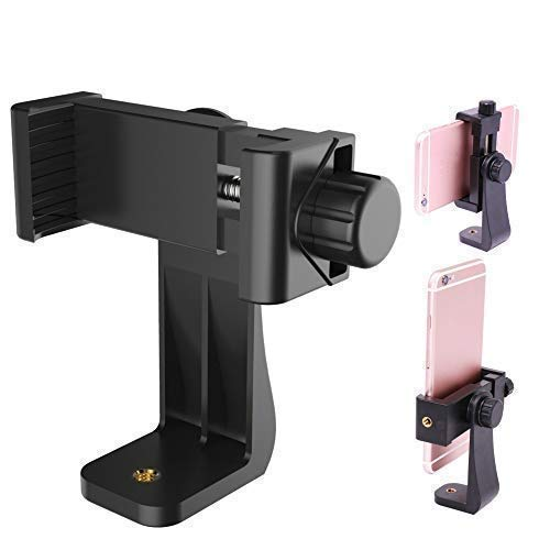 Humble Universal Tripod Mount Adapter Clip with Adjustable Clamp for Mobile Phone, Smartphones & All Types of Tripods (Black)