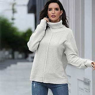 SDJYH suéteres y Jerseys de Mujer Otoño Invierno Jersey de Manga Larga Jersey de Punto Informal 39