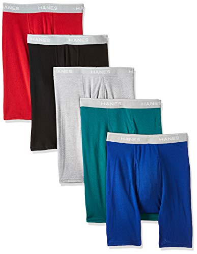 Hanes Men's Tagless Exposed Waistband Boxer Briefs, Assortment 1, X-Large