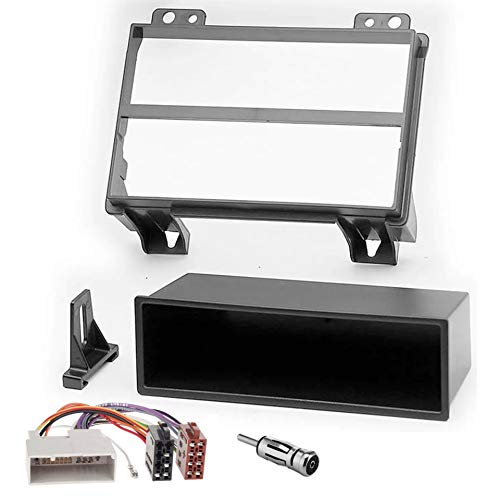 Sound-way Kit Montaggio Autoradio, Mascherina 1 DIN, Cavo Adattatore Connettore ISO compatibile con FORD FIESTA, FUSION