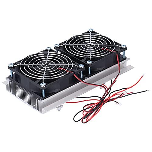 KAKAKE Sistema de enfriamiento, Sistema de enfriamiento de semiconductores de operación Simple de Doble núcleo para enfriamiento Plano para el enfriamiento de Camas de Mascotas