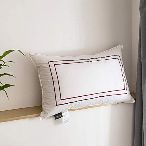 NLRHH Almohada Alternativa, Almohadas de Almohadas alternativas, Almohadas Suaves y Suaves for Dormir, for el Lado de la Espalda del estómago, un Juego Blanco de 2 estándar, Azul Peng (Color : Red)