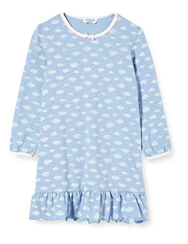 ESPRIT Berrie MG NS.A.LS Camicia da Notte, Blu (Pastel Blue 435), 92/98 Bambina