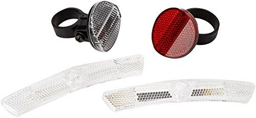 CatEye Reflector Kit-Front, Rear Plus Wheel Lumières et réflecteurs – Cyclisme. Mixte, Noir, Taille Unique