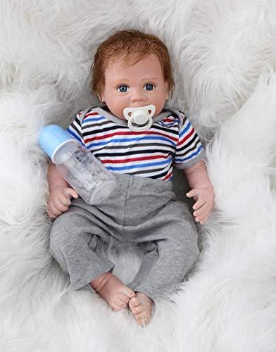 Scnbom 22inch 55cm Puppen Reborn Babys mädchen silikon wie echte babypuppe Junge lebensechte Dolls Toddler günstig