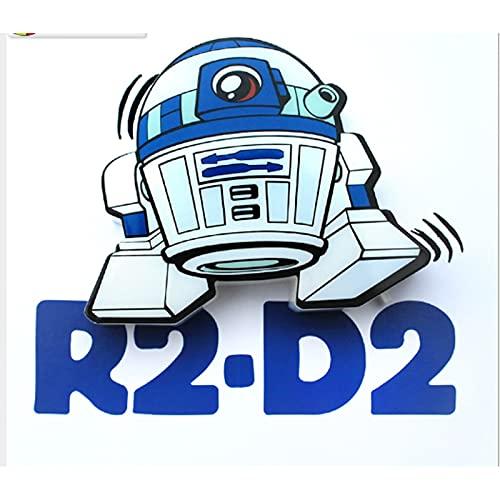 Apliques Pared,Lámparas De Pared Niños Para Mesita De Noche,Iluminación De Pared Niño / Niña Dormitorio, Lámparas Star Wars R2-D2