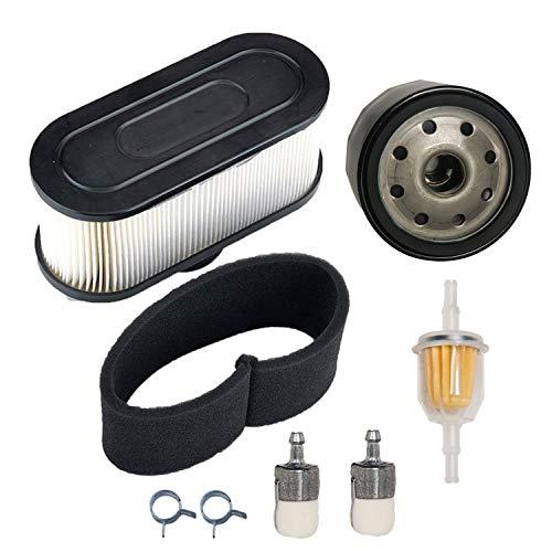 JJDD Luftvorfilter Ölfilter Kraftstofffilter Klemmen Ersatz für Kawasaki FR651V FR691V FR730V FS481V FS541V FS600V FS651V FS691V FS730V 4-Zyklen-Motor