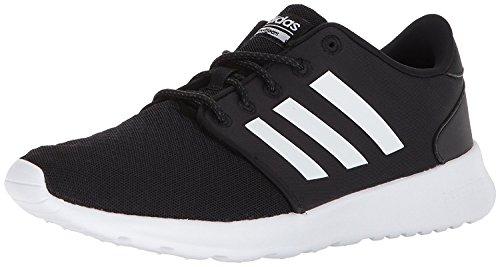 adidas Women's Cloudfoam QT Racer Shoes Sneaker, Black/White/Carbon, 6.5 UK