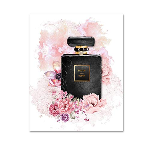 Diy 5D Pintura De Diamante Kits De Taladro Cuadrado Completo, Perfume De Flores Rosadas, Tacones Altos, Imagen De Diamantes De Imitación De Color, Artesanía Para Decoración De La Pared Del Hogar