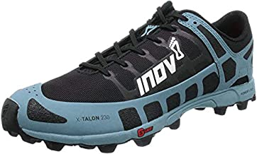 Inov-8 Womens X-Talon 230 - Lightweight OCR Trail Running Shoes - for Spartan, Obstacle Races and Mud Run - Black/Blue Grey 6.5 W US