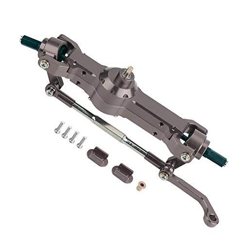 Dilwe RC Getriebe, Aluminiumlegierung Vorderachse für WPL 1/16 Military Truck RC Car Upgrade Part( Titangrau)