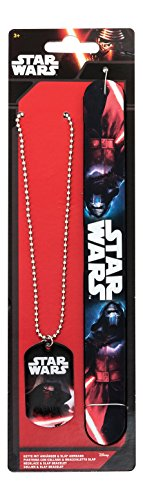 Star Wars 91638 Kylo Ren Set Anhänger, 7.5 x 0.5 x 26.5 cm Slap-Armband und Halskette