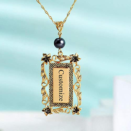 VAWAA Custom Name Geometric Pendants Necklaces Gold Color Chains Choker Necklace for Women Boho Pretty Jewelry Personalized Girls Gift
