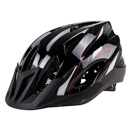 ALPINA MTB 17 Fahrradhelm, Black-White-Red, 58-61 cm