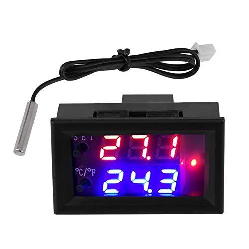 con sensor DC12V termostato electrónico, microordenador regulador térmico termostato interruptor de control con sonda de sensor de temperatura