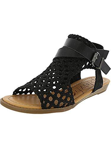 Blowfish Malibu Womens Balla-D Sandals, Black Woven Draped Micro/Dyecut, 9.0 M