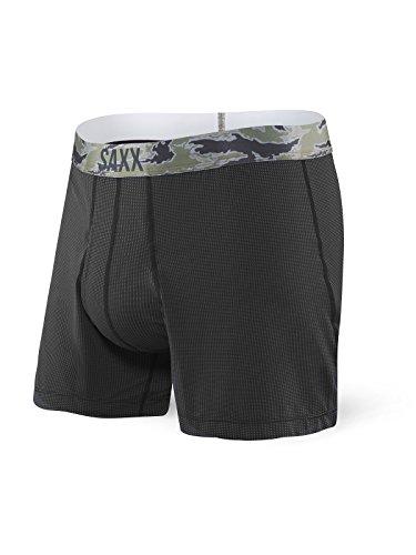 SAXX Underwear Co. Boxer - Quest Loose Cannon Boxer mit integrierter Ballpark Pouch Support Herren Unterwäsche, Schwarz, Small