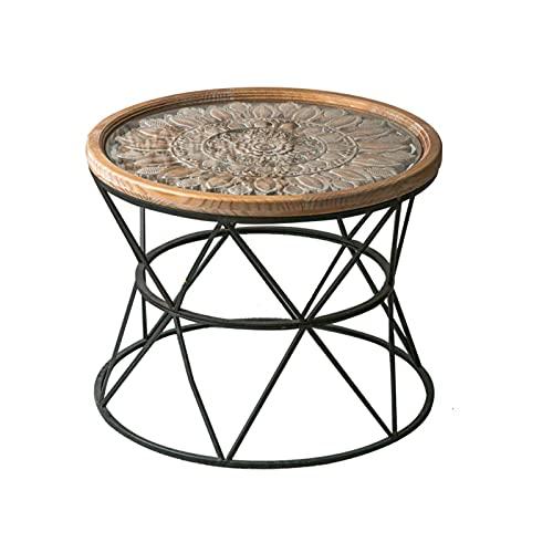 zlw-shop tavolino Tavolino Rotondo, Comodino Moderno tavolino da caffè per Piccolo Soggiorno Spazio Soggiorno