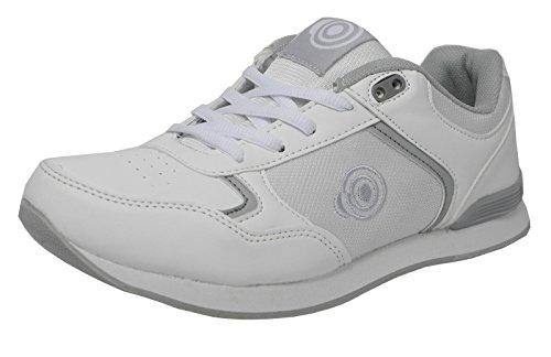 Zapatillas de señora para bolera ligeras, con suela plana y lazos, color Blanco, talla 40