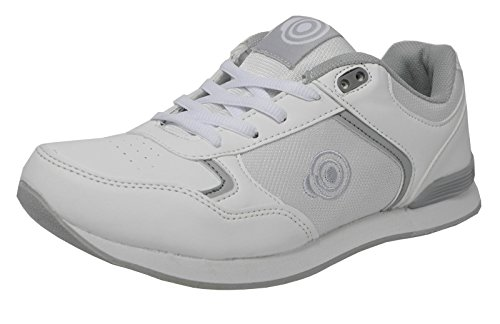 Dek Damen flache sohle leichte lace up bowls schuhe bowling-trainer weiß 6 uk