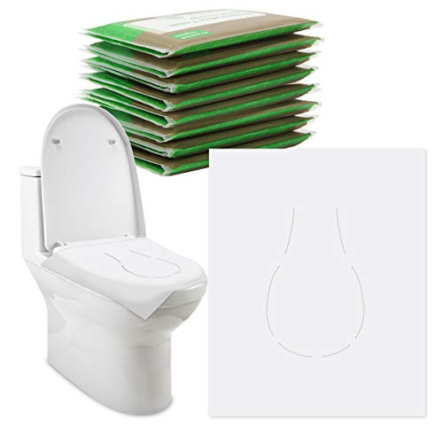 Ahier Toilet Seat Covers Disposable, 80 Count Flushable Potty Protector, Ideal for Adults and Kids, Portable Size for Travel & Daily Use, Eco-Friendly