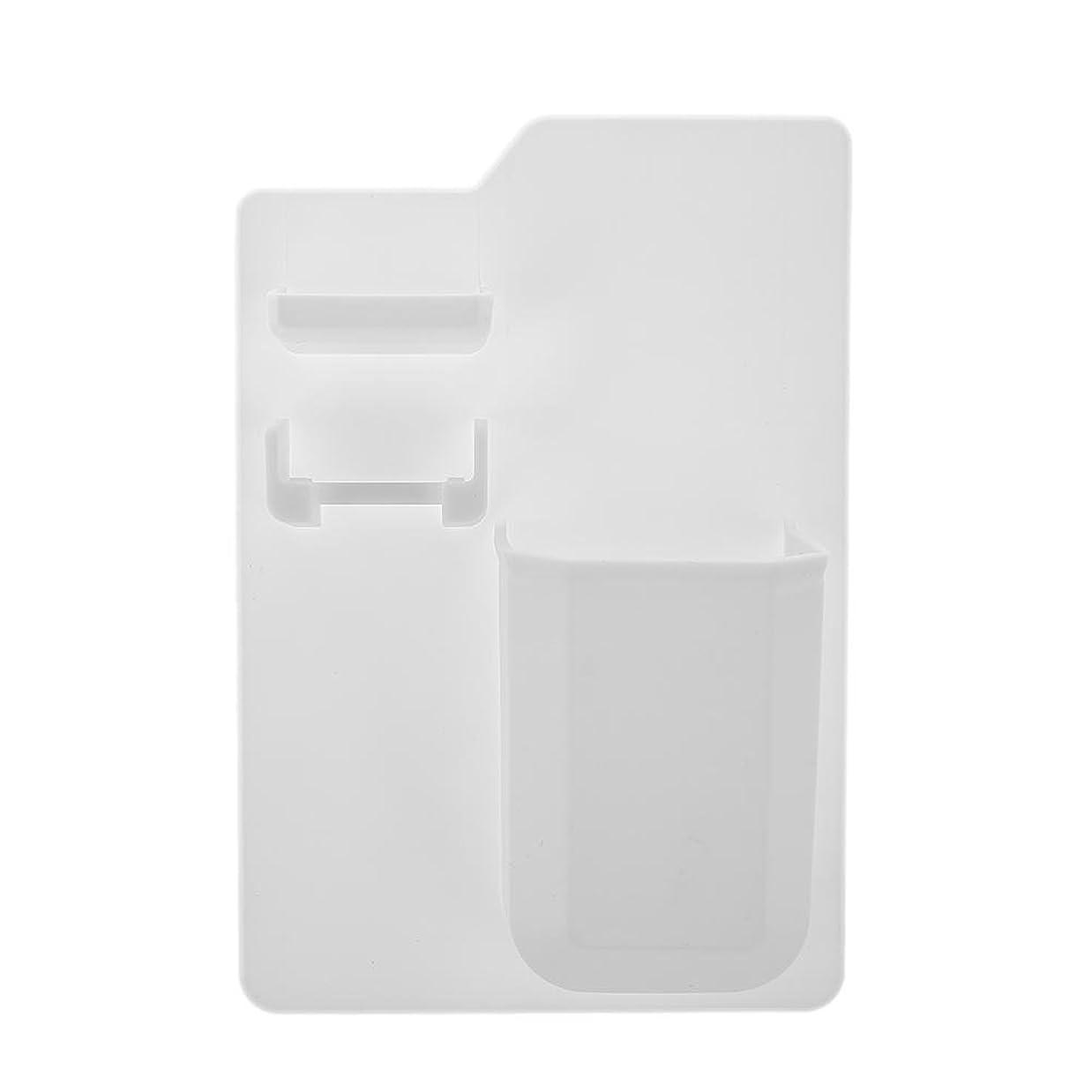 学校の先生掻くセンサー新製品シリコン浴室収納袋強力な歯ブラシ入れシリコン歯ブラシ入れ浴室のシャワー(白)