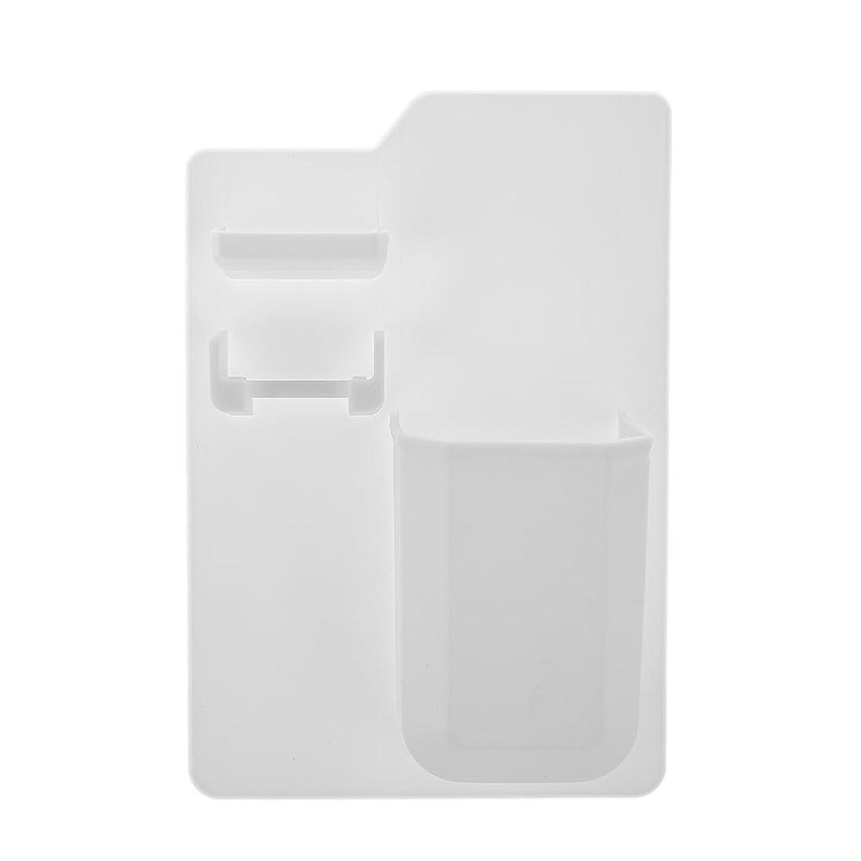 意味四分円の間に新製品シリコン浴室収納袋強力な歯ブラシ入れシリコン歯ブラシ入れ浴室のシャワー(白)