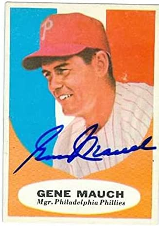 Autograph Warehouse 585561 Gene OFFicial store Baseball Mauch Card Autographed shopping