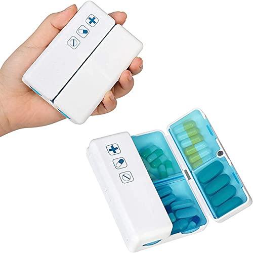 MUY grids una Semana Caja de Pastillas con imán Plegable Compartimento portátil de Viaje Caja de Almacenamiento de vitaminas Caja de Cuidado de la Sal
