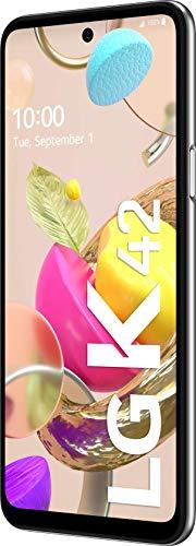 LG K42 Smartphone 64 GB (16,76 cm (6,6 Zoll) LCD-Display, Quad-Hauptkamera, 3D-Sound, MIL-STD-810G, Android 10), Grau