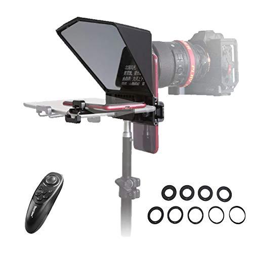 Bestview T2 Teleprompter compatible con teléfonos inteligentes, tabletas, cámaras DSLR con mando...