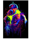 AZSTEEL Colorful Pitbull Gifts for Dog Lovers Vertical