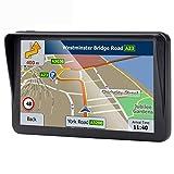 GPS para coche de 7 pulgadas, sistema de navegación para autos, SAT NAV Lifetime Map Updates, dirección de voz real, navegador GPS
