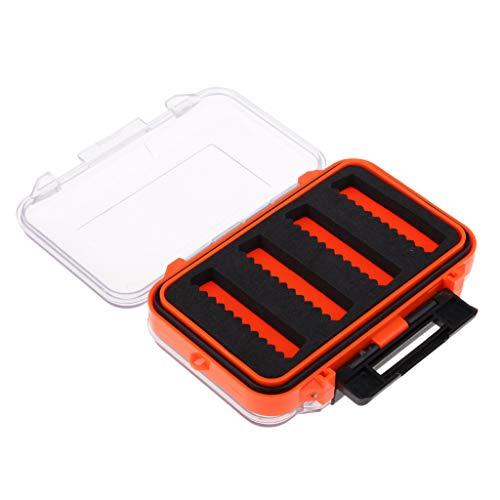 CUTICATE Zweiseitige wasserdichte Fliegenbox Schlitz Schaum Fly Fishing Box Stoßfestem Kunststoff Box Für Fliegen Streamer Nymphen Lagerung