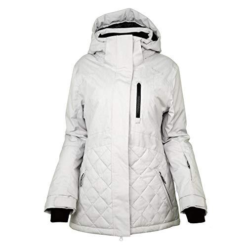 CNTRITON Women's Waterproof Ski Snowboard Jacket Insulated Snow Warm Winter Coats Windproof Parka for Skiing(Grey, Medium)