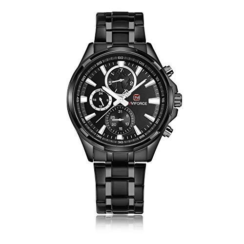 Reloj para Hombre Reloj para Hombre Cronógrafo Fecha analógica Relojes de Moda de Cuarzo-C