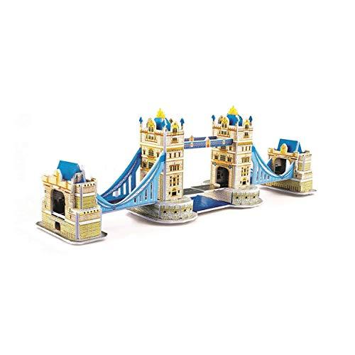 Tree-de-Life 3D Stereo Puzzle Mini-Welt Architekturmodell Puzzle Papier Puzzle für Kinder Notre Dame In Paris - mehrfarbige London Brücke