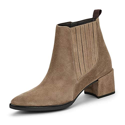 Paul Green Damen Stiefelette, Frauen Chelsea Boots, Stiefel halbstiefel Schlupfstiefel hoch weiblich Lady Ladies feminin Women,Grau,6.5 UK / 40 EU