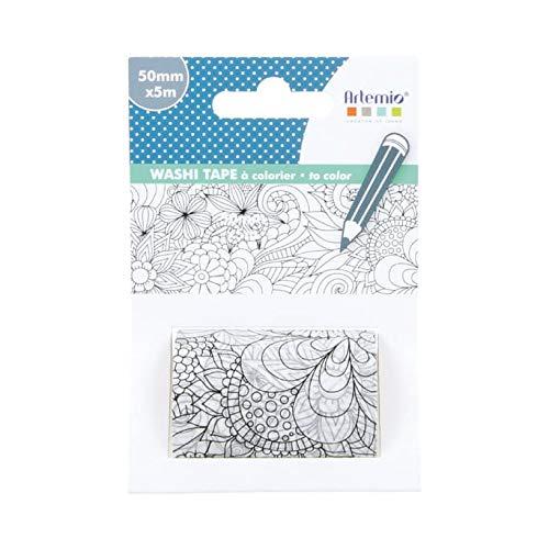 Artemio Blumen Washi Tape, Papier, Mehrfarbig, 7,2x 4x 10,8cm
