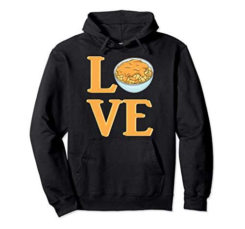 Love Mac N Cheese - Macaroni and Cheese Lover Quote - Humor Felpa con Cappuccio