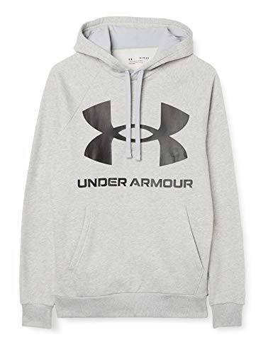 Under Armour Felpa con cappuccio Uomo Rival,MOD GRAY LIGHT ,M