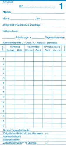 Stempelkarte Kombi-Stempelkarte A21/85...